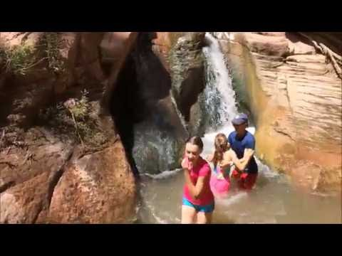 Kanarra Falls Slot Canyon Water Slide