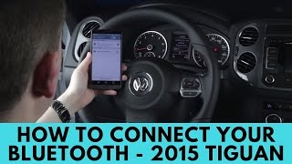 2015 Фольксваген Tiguan: як підключити Bluetooth