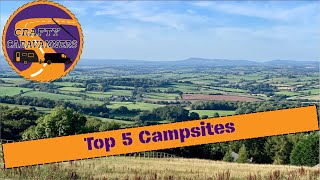Top 5 Campsites we'd like to visit after lockdown