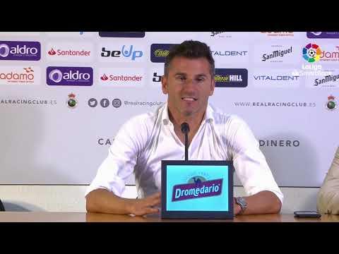 Rueda De Prensa De  Iván Ania Tras El Real Racing Club Vs Málaga CF (0-1)
