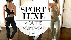 Activewear Haul | 4 Sport Luxe Outfits