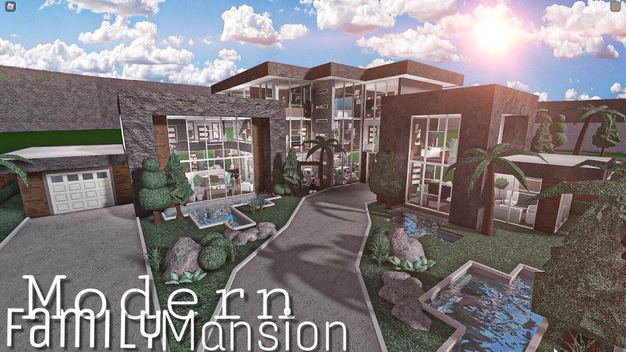 ROBLOX BLOXBURG: Modern Family Mansion    House Build ...