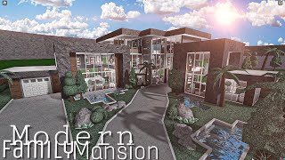 ROBLOX BLOXBURG: Modern Family Mansion    House Build