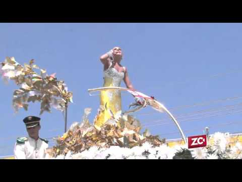 Marcela alegró la Batalla de Flores en la Vía 40
