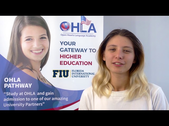 Saniia Gatina from Russia is now studying Biology at FIU