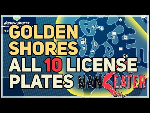 All Golden Shores License Plates Maneater |