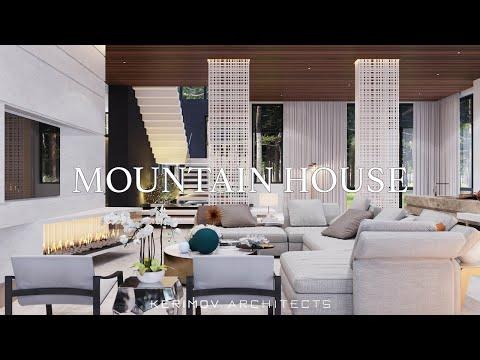 Дизайн интерьера в современном стиле. Дом на Николиной горе 870м2, Москва.