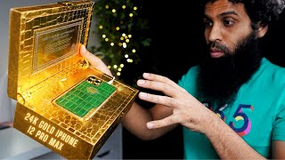 24K Gold Luxury Custom iPhone 12 Pro Max Unboxing & review