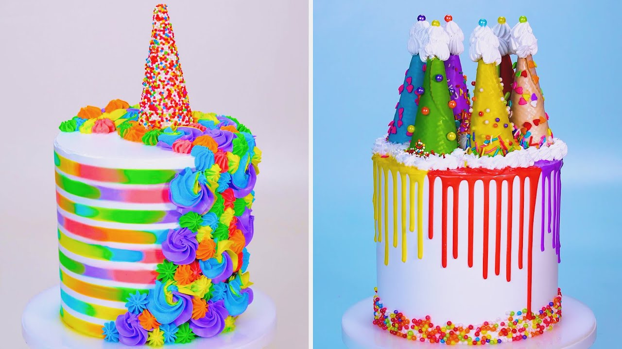 18+ Beautiful Colorful Cake | Fun and Creative Chocolate Cake Decorating Ideas For Party