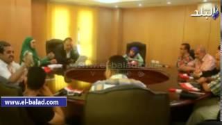 بالفيديو..محافظ الفيوم يلتقى الوفد الممثل للمحافظة فى الافتتاح التاريخى للقناة الجديدة