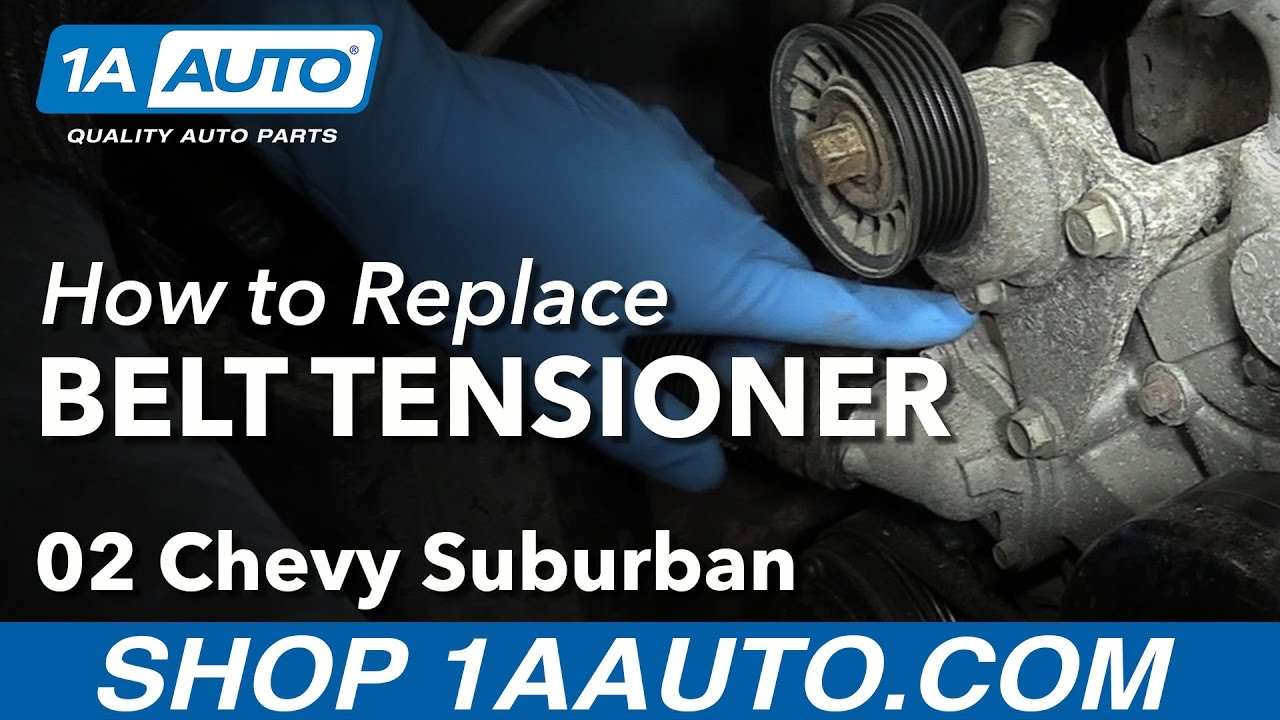 how to install replace serpentine belt tensioner 2002 06 chevy suburban 1500 v8 5 3l [ 1280 x 720 Pixel ]