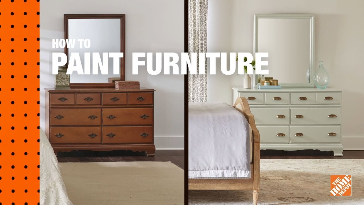How to Paint Furniture  Refinishing Wood Furniture  The Home Depot