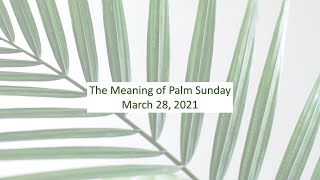 The meaning of Palm Sunday - Rev. Lee Wong - Rosewood Baptist Church March 28, 2021 ESC worshp