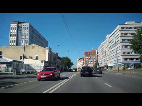 . Москва. Поездка на автомобиле по городу России. 18 мая 2019 г.