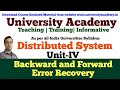 L16: Backward and Forward error recovery in distributed systems|Recovery in Concurrent System