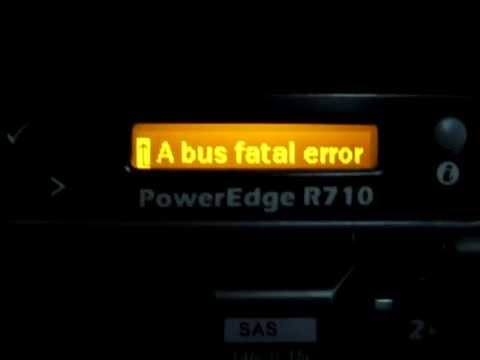 Dell PowerEdge R710 Error Message on LCD panel