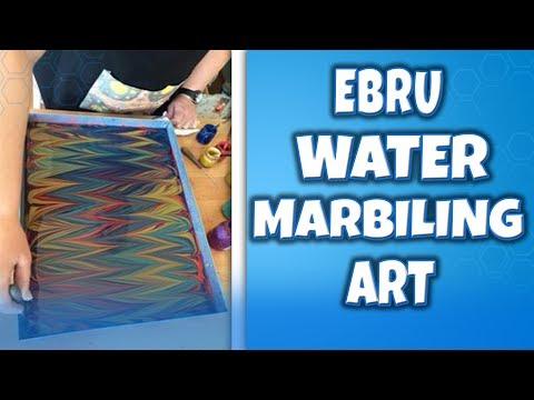 EBRU WATER MARBLING ART WILL BLOW YOUR MIND