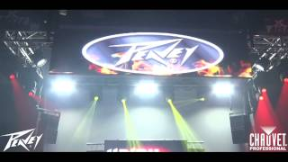 jason blends uses chauvet professional for the peavey dj expo booth