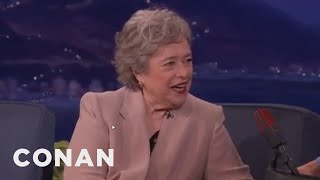 """Kathy Bates: My Mother Thought I Was Playing Myself In """"Misery""""  - CONAN on TBS"""