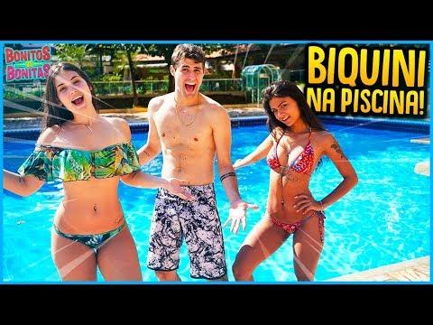 BONITOS VS BONITAS: TROCA DE BIQUINI NA PISCINA MAIS FUNDA!! [ REZENDE EVIL ]