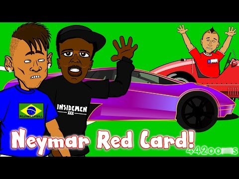 🏆Neymar Red Card🏆🚗KSI Lamborghini!🚗Vidal Ferrari Crash Ban! Brazil vs Colombia 0-1 BRAWL!