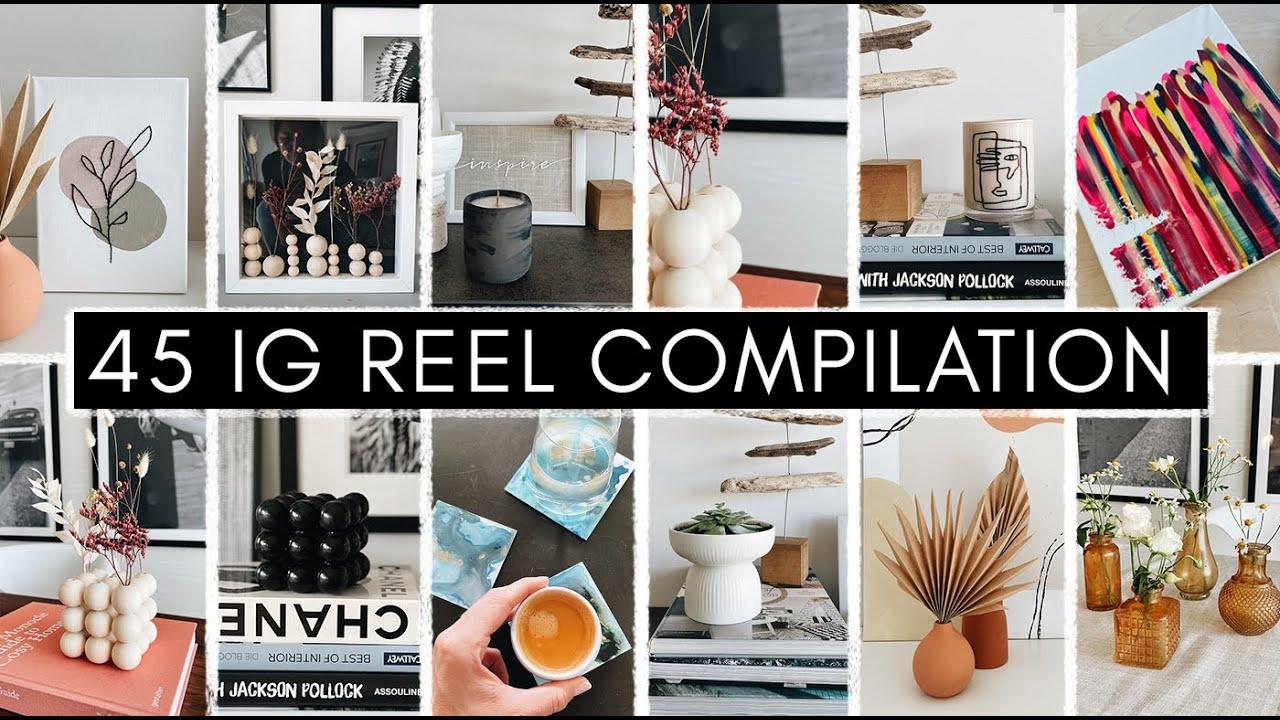 45 SCHNELLE DIY PROJEKTE - Instagram REEL Compilation mit Ideen zum Upcycling, Basteln &  IKEA Hacks