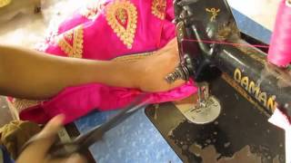 How to Putting Zipper of Readymade Lehenga / Side stitching