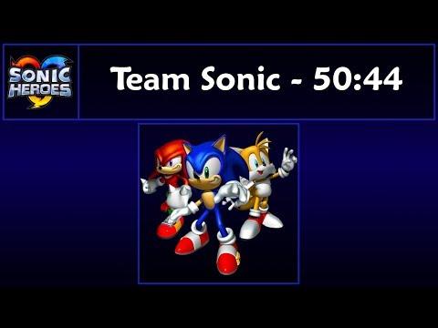 Sonic Heroes - Team Sonic Speedrun - 50:44 [Game Time]