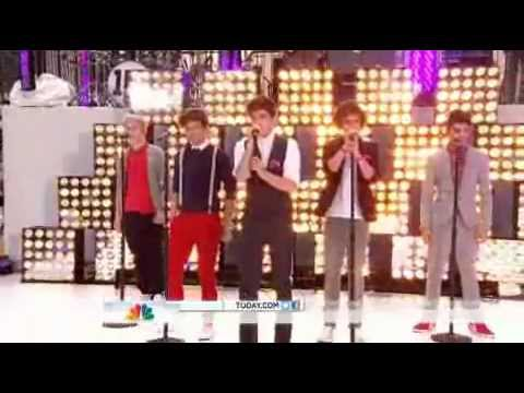 Today Show One Direction performing More Than This live- March 12 2012
