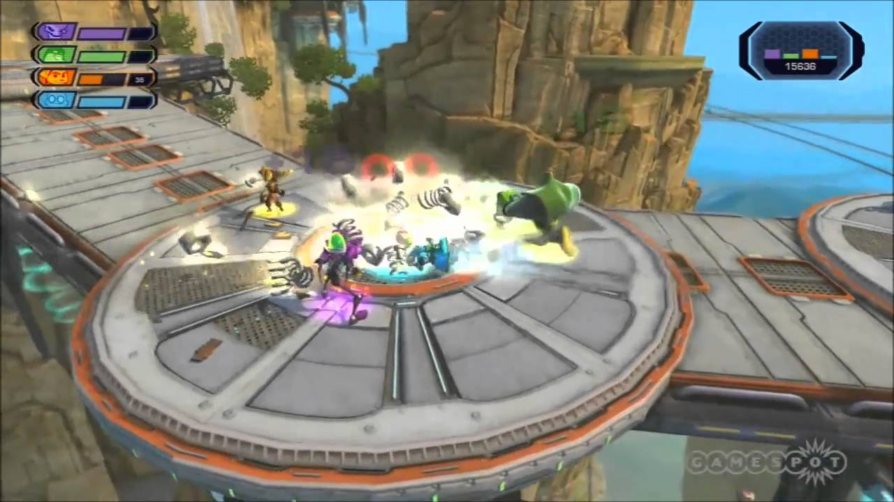 ratchet and clank all 4 one gameplay