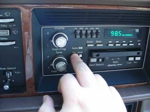 Tour Of The Interior Of A 1991 Cadillac Seville Youtube