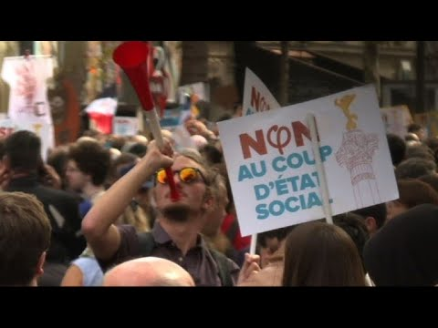 French left stage street showdown over Macron reforms