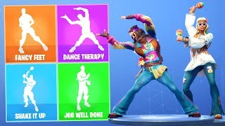*NEW!* FAR OUT MAN & DREAM FLOWER SKIN with Leaked Fortnite Emotes!