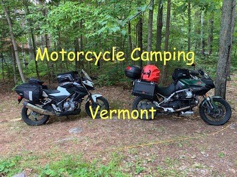 Motorcycle Camping in Vermont Moto Guzzi Stelvio 1200 NTX, Honda CB300F