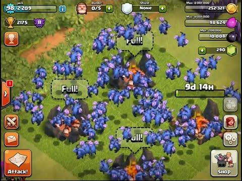 Clash Of Clans : Attack 110 Minion Level 3
