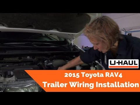 2015 Toyota RAV4 Trailer Wiring Installation - YouTube on