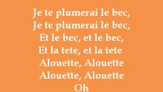 Alouette (Dance Moms) - Lyrics