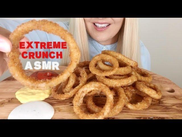 Crunchy Fried Onion Rings Extreme Crunch Asmr No Talking