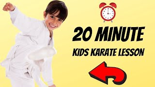 How To Learn Kaŗate At Home For Kids | 20 Minute Beginner Lesson!