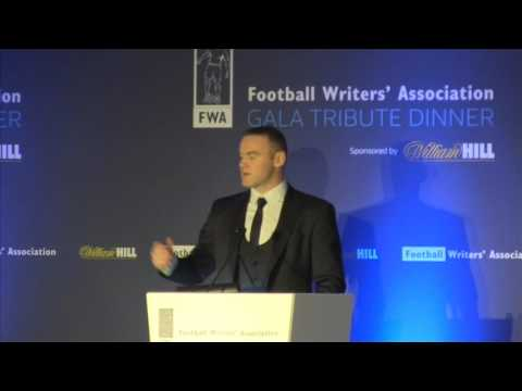 Wayne Rooney's speaks out at FWA Tribute night