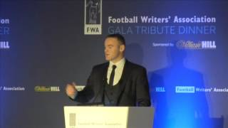 wayne rooney s speaks out at fwa tribute night