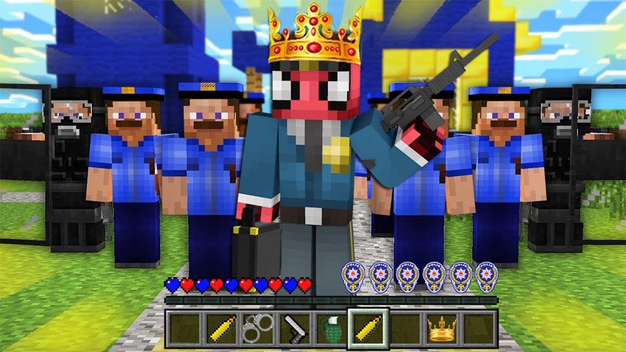FAKİR 1 GÜNLÜĞÜNE KRAL POLİS OLDU!👮♂️  - Minecraft