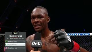 UFC 253: Исраэль Адесанья - Слова после боя