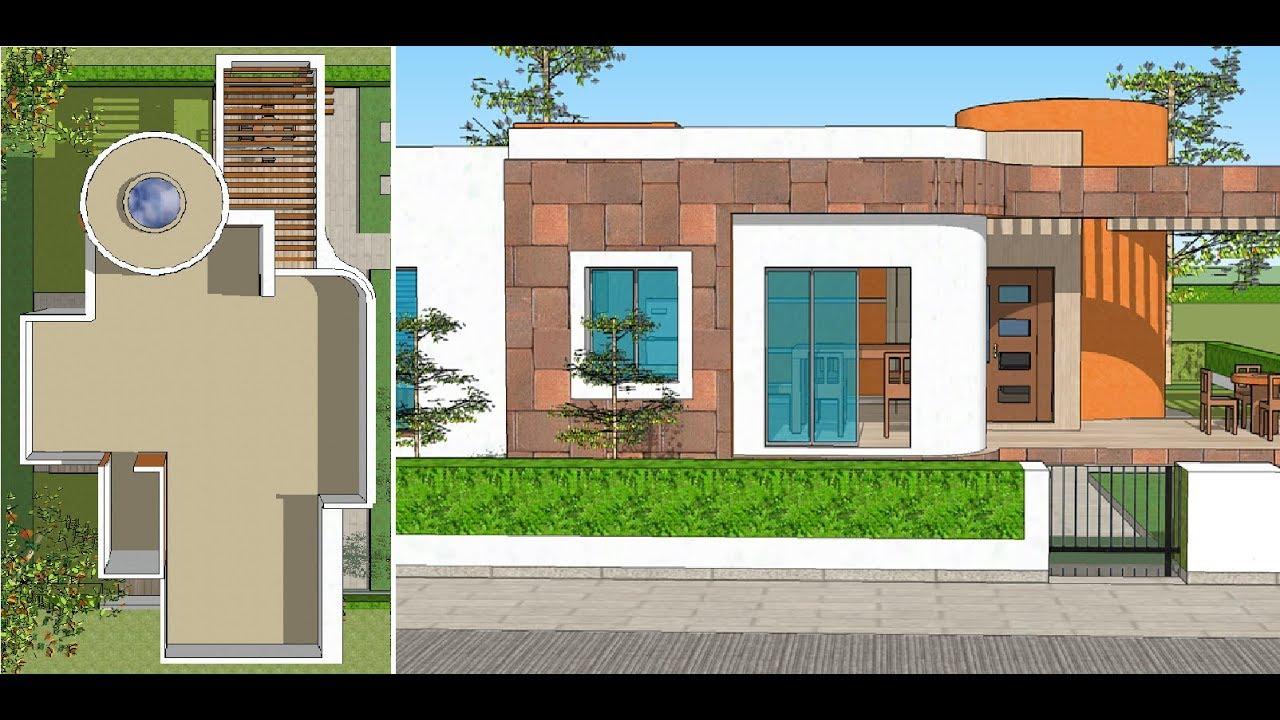 Plano casa un piso con dos rec maras proyecto de arquitectura youtube - Planos para casa ...