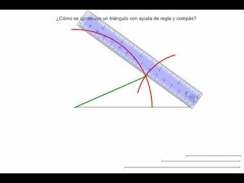 como se construye un tringulo con regla y comps  YouTube