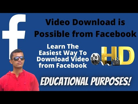 How to Download Video From Facebook Private Group | Simple  Easy Method