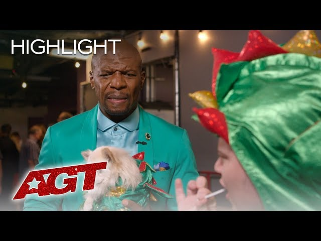 Not Even Terry Can Stop Piff the Magic Dragon from Getting His Snack On - America's Got Talent 2019