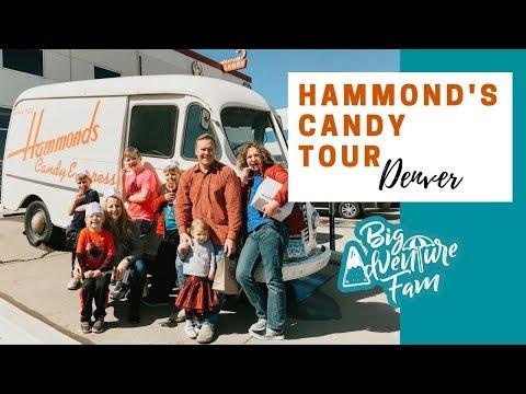 HAMMOND'S CANDY TOUR DENVER   Big Family Adventure Vlog