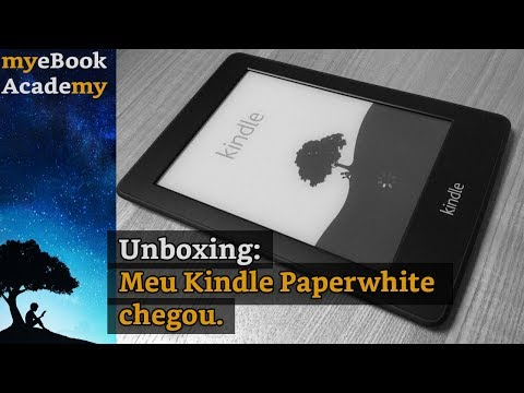 Unboxing - Meu Kindle Paperwhite chegou.