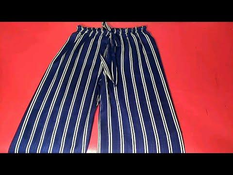 خياطة وتفصيل سروال عريض او بنطلون نسائي موديل صيفي coudre un pantalon pour femme
